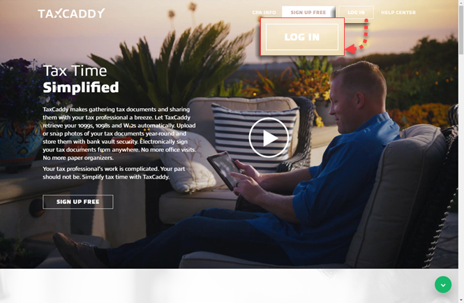 TaxCaddy home page
